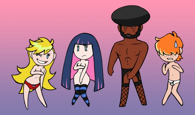 Panty & Stocking with Garterbelt... and geek boy.